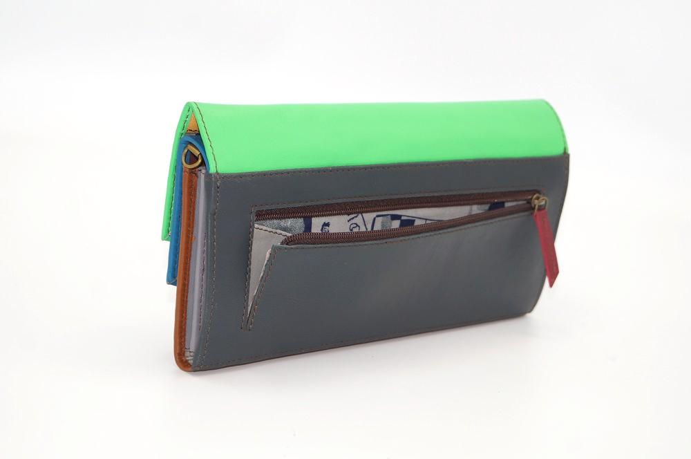 Grand portefeuille cuir / Compagnon / Pochette unique femme #2
