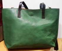 Grand sac en cuir recyclé Soruka