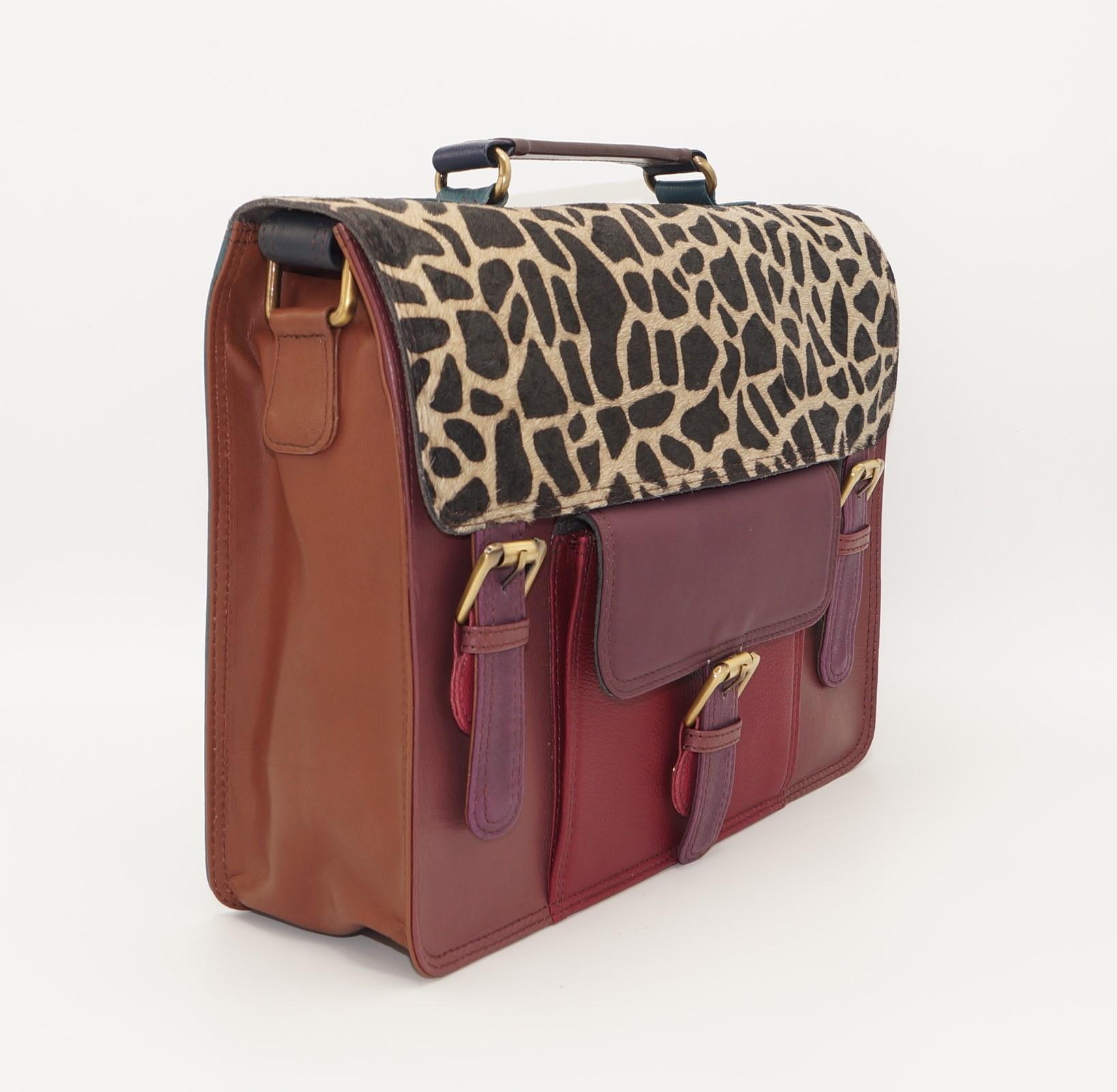 Grand sac forme cartable en cuir #15