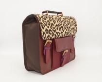 Grand sac forme cartable en cuir #17