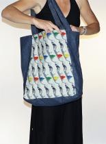 Grand sac shopping Imprimé Visage Bla-Bla