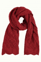 Grande écharpe tricotée rouge King Louie