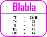 Guide des tailles Bla Bla