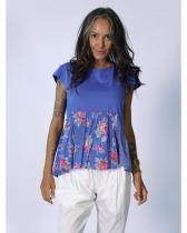 Haut bleu fleuri Rhum Raisin, Lavandou 13