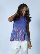 Haut bleu fleuri Rhum Raisin, Lavandou 15