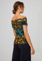 Haut épaules nues motif Afrique Surkana, haut ethnique
