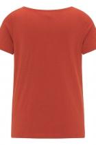 Haut rouge en jersey flammé Tranquillo Fallou