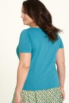 Haut turquoise en jersey flammé Tranquillo Fallou