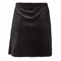 Jupe courte en velours noir Moshiki