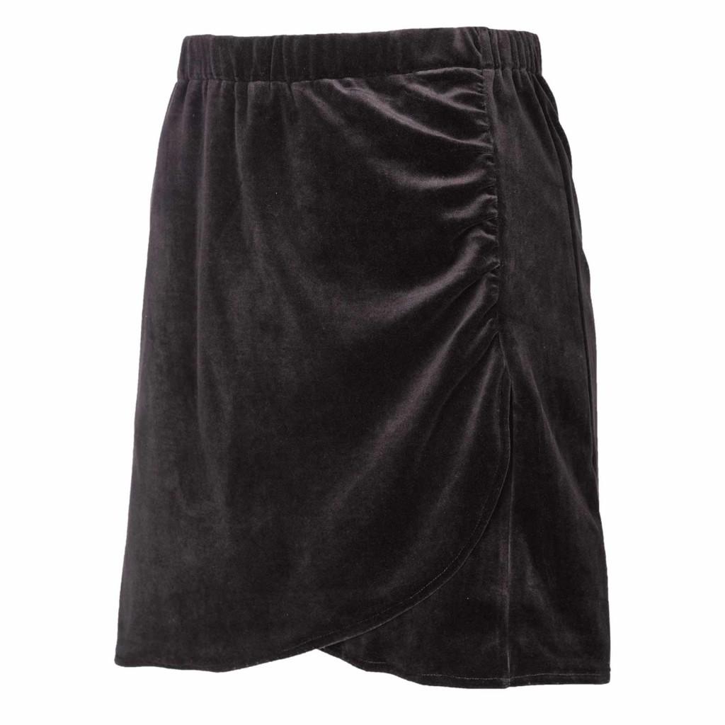 Jupe courte noire velours Moshiki coton bio