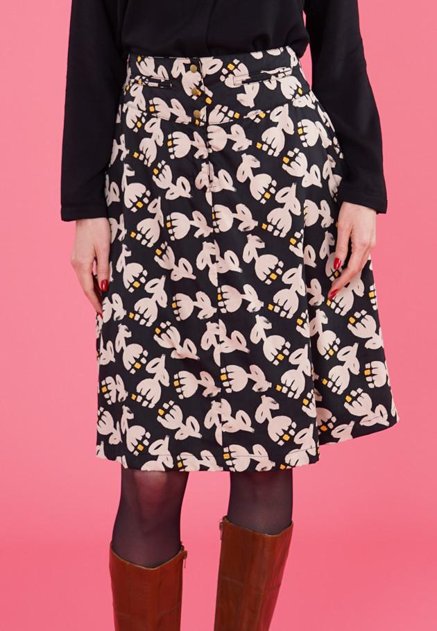 Jupe en coton noire et beige Princesse Nomade, Faisa 01