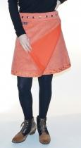 Jupe en velours à taille réglable orange