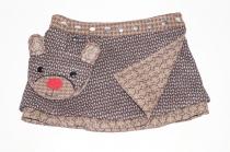 Jupe hiver réglable réversible enfant Moshiki en Tweed Lolipop