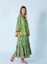 Jupe longue fleurie Rhum Raisin, Olive 34