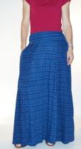 Jupe longue Shera Bleu