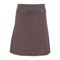 Jupe motif géométrique en coton bio Froy & Dind