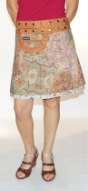 Jupe portefeuille reversible à taille réglable Cotton 3 Long K