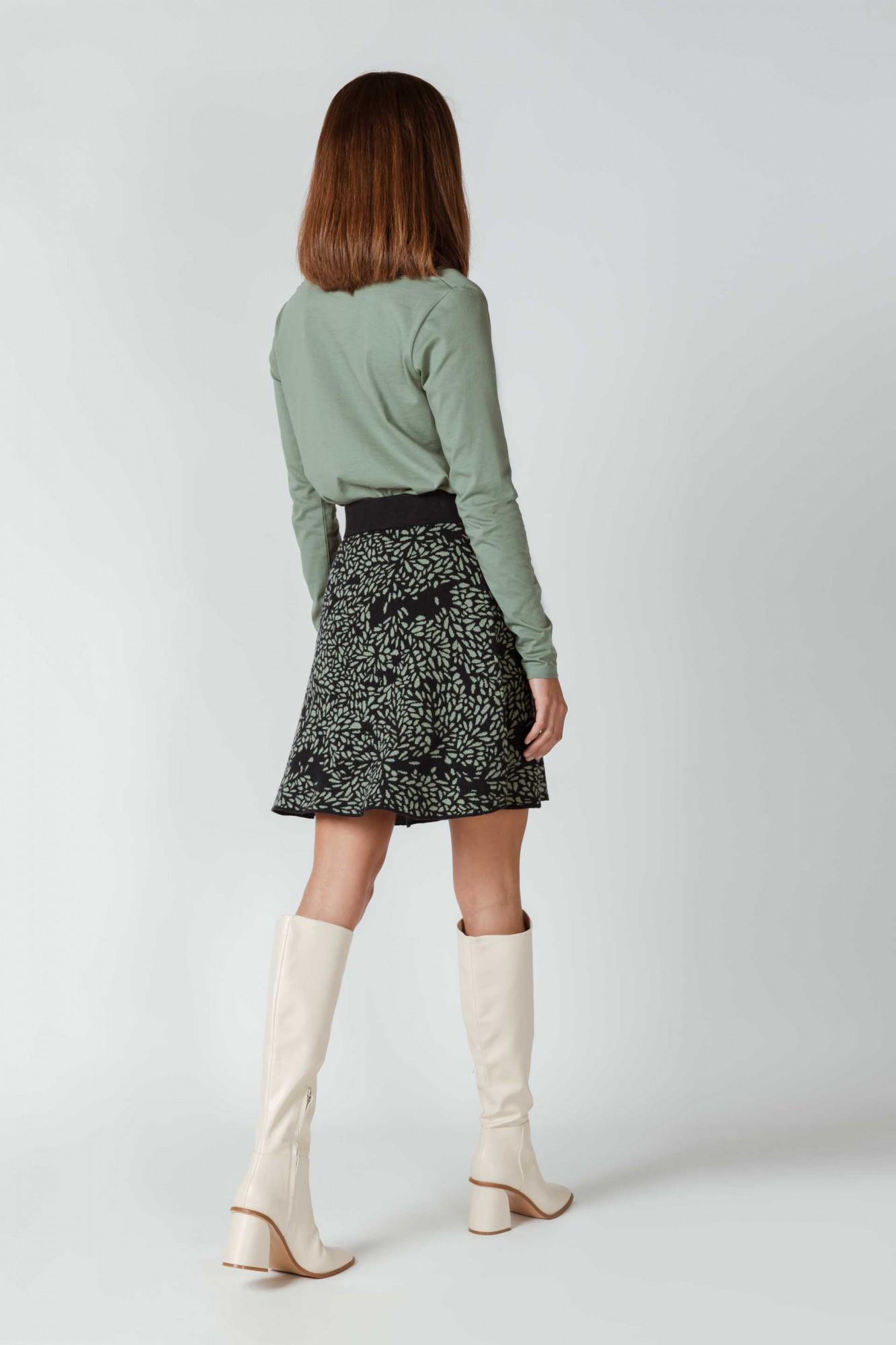Jupe tricot à motif en coton bio SKFK, Arane
