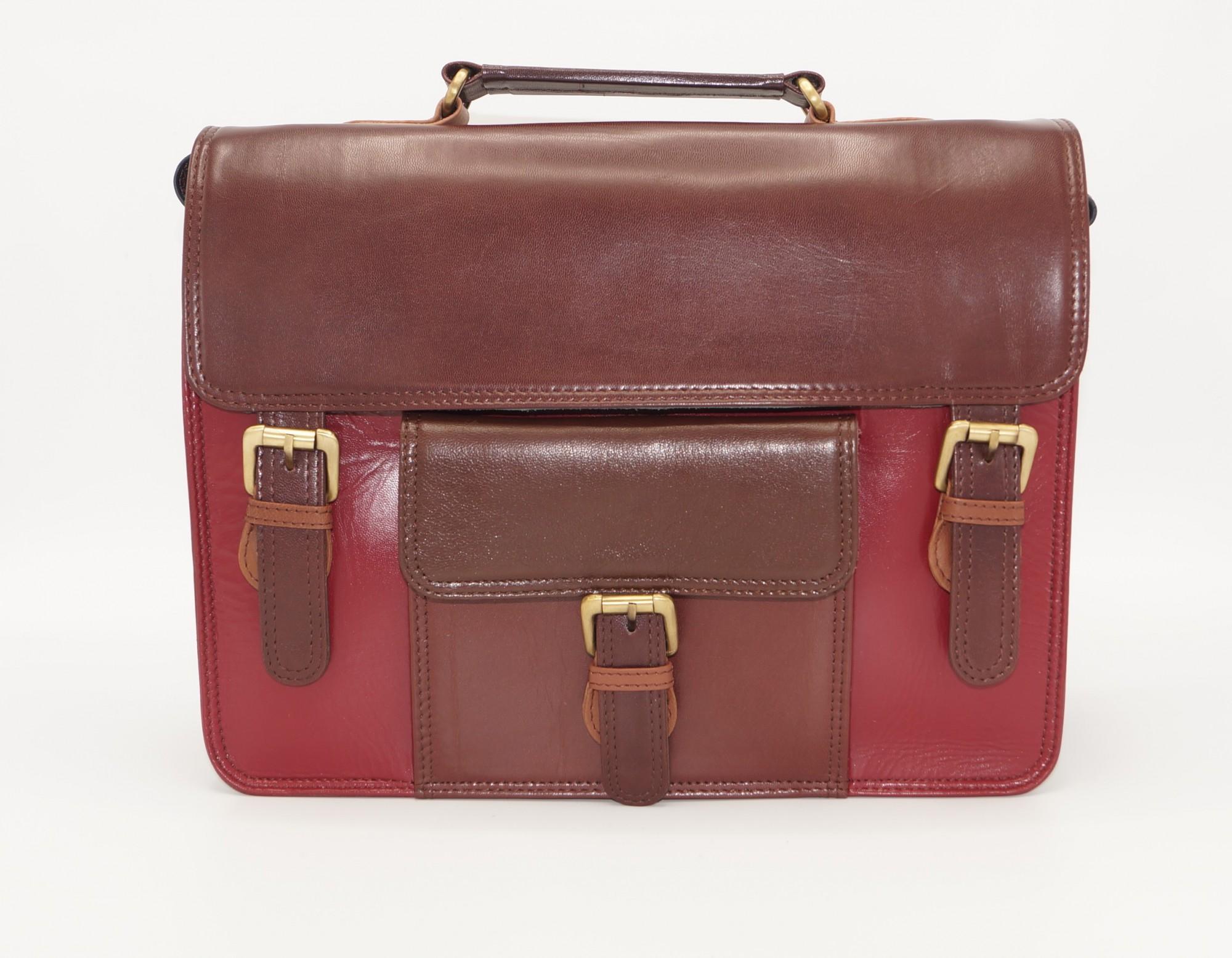 Large leather satchel bag #14