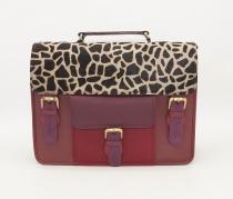 Large leather satchel bag #15