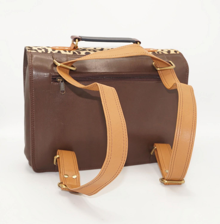 Large leather satchel bag #17