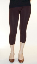Legging capri 3/4 taille unique marron