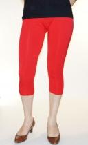 Legging capri 3/4 taille unique rouge