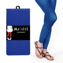 Legging confortable solide et épais bleu électrique long Moshiki
