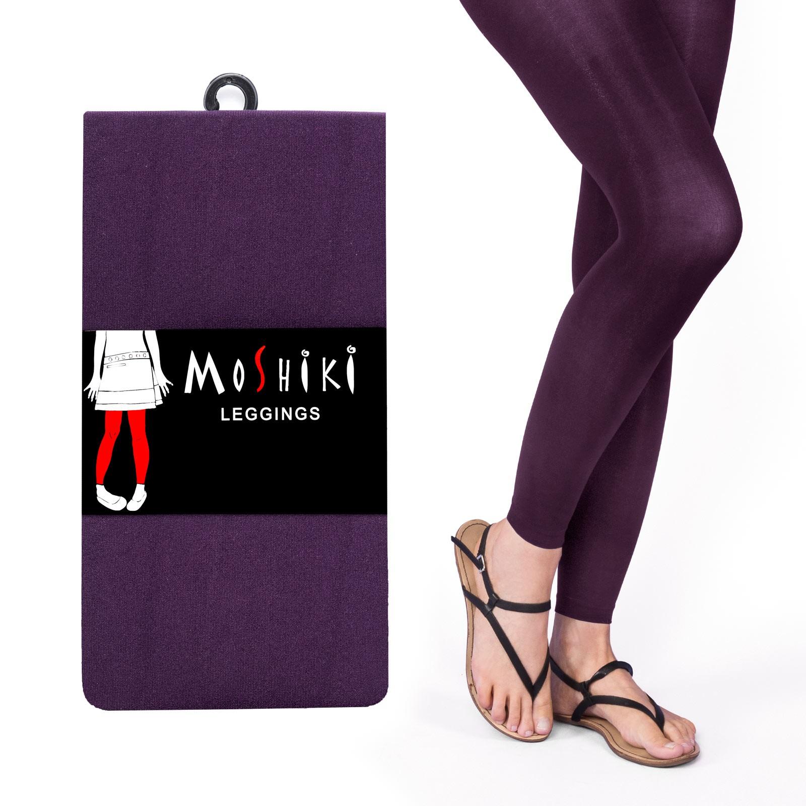 Legging épais et confortable long Violet Moshiki