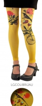 Legging fantaisie Colibri jaune Lili Gambettes