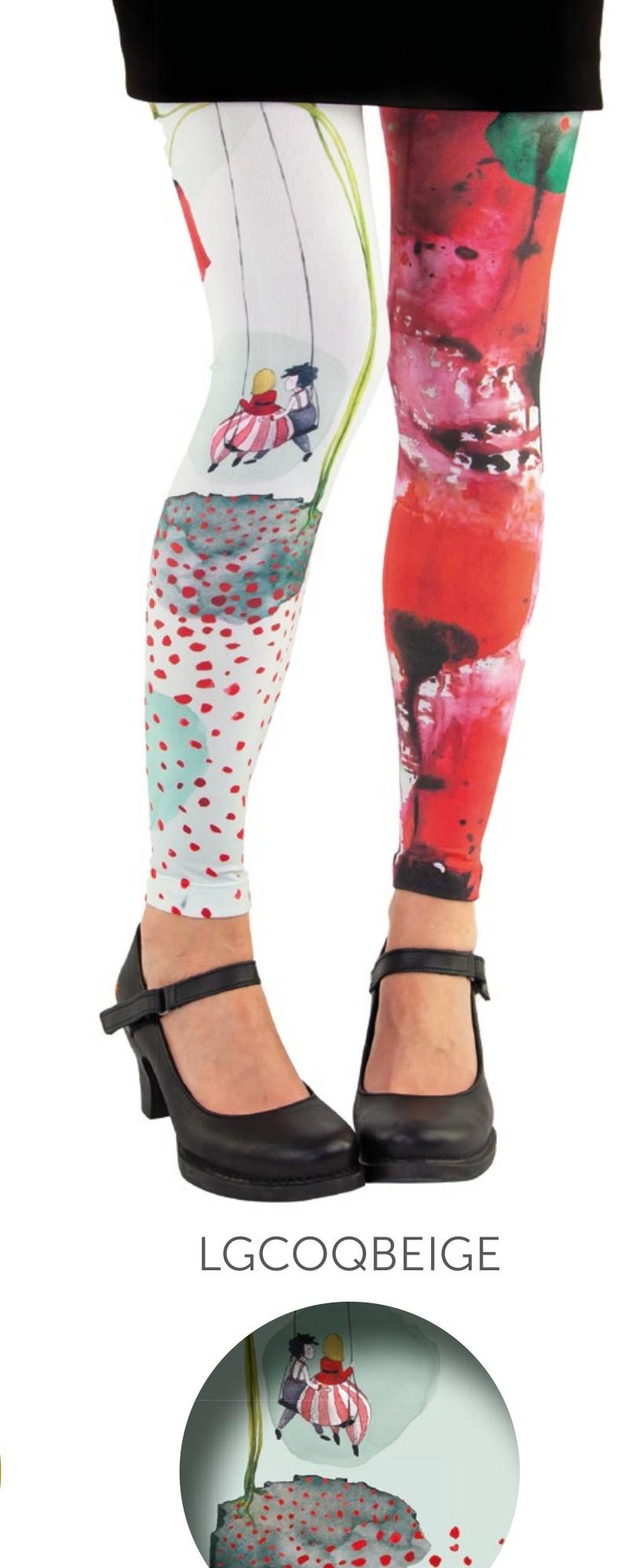 Legging fantaisie Coquelicot Lili Gambettes
