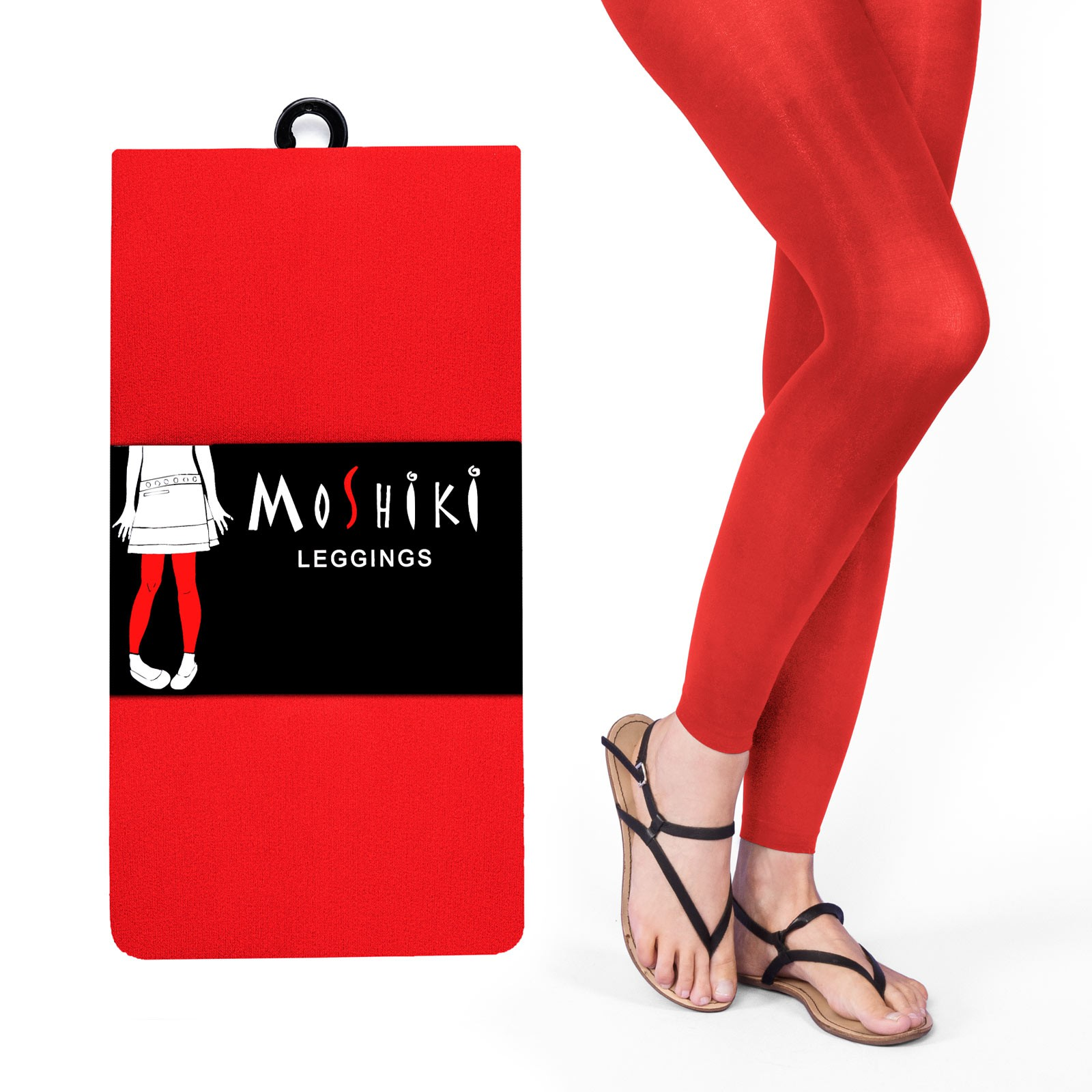 Legging Long uni Rouge Moshiki