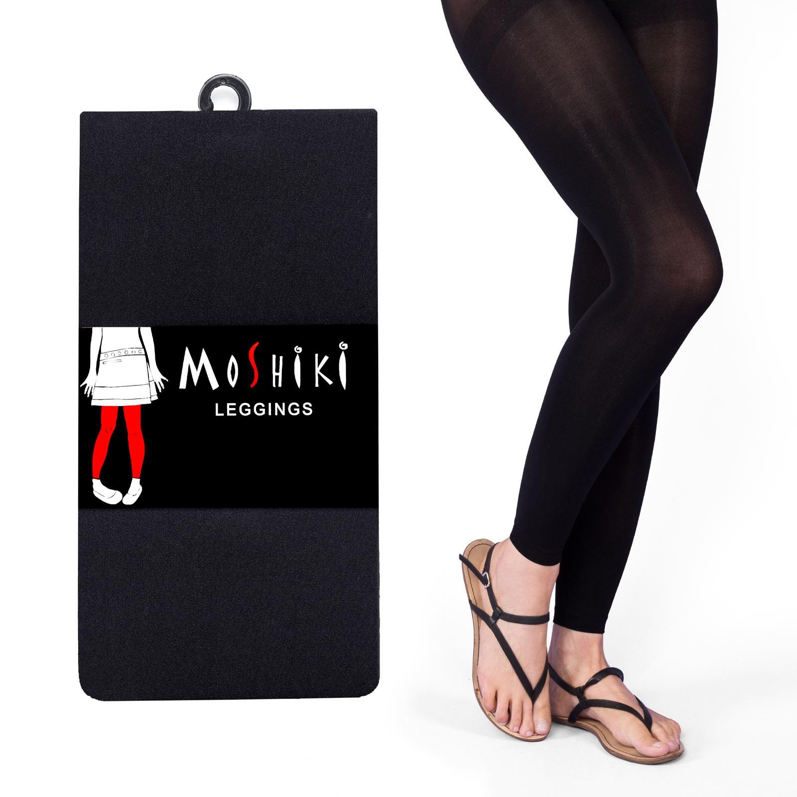 Legging noir solide et confortable Moshiki taille unique