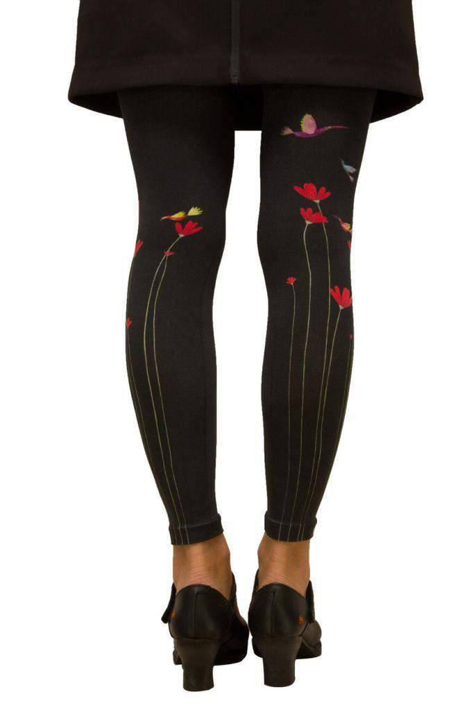 Leggings imprimés Fleur rouge Lili Gambettes