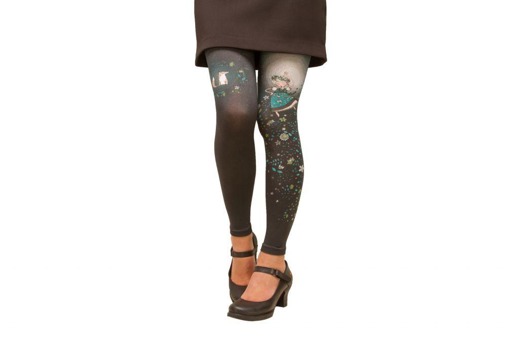 Leggings imprimés Folk gris Lili Gambettes