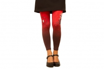 Leggings imprimés Folk rouge Lili Gambettes