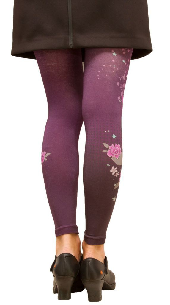 Leggings imprimés Kitchen violets Lili Gambettes