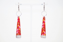 long and colorful Earring La Belle Camille Yoko Silver