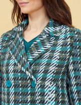 Manteau court en tweed La Fiancée du Mékong, Nais tweed kaki