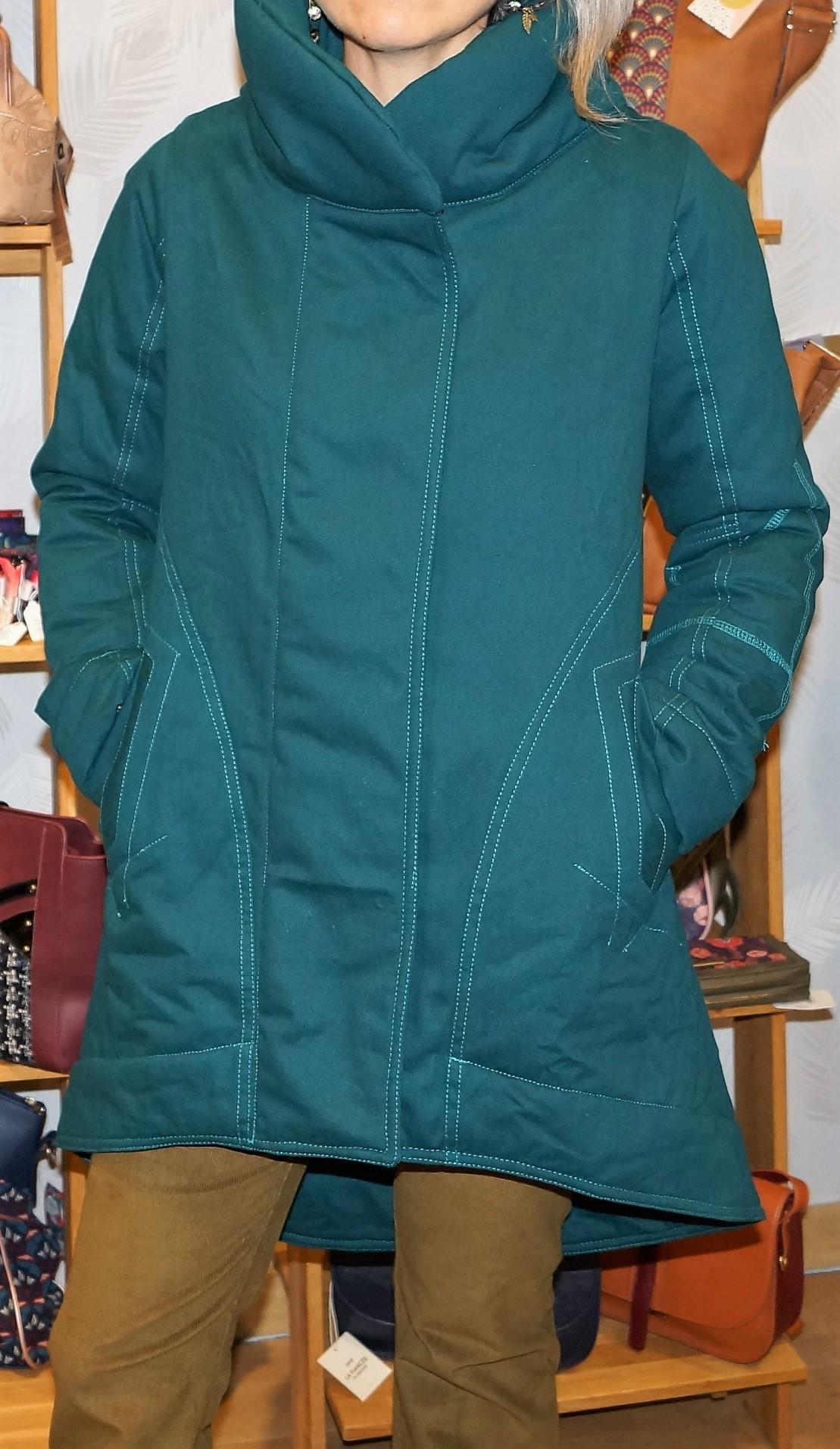 Manteau original bleu canard Cosmos Kali Yog