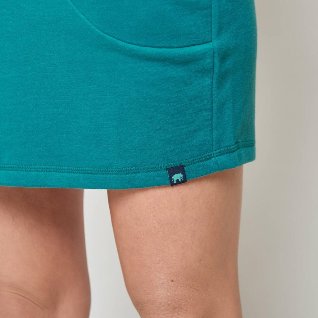 Mini Jupe pétrole sport Alkes Tranquillo coton bio GOTS
