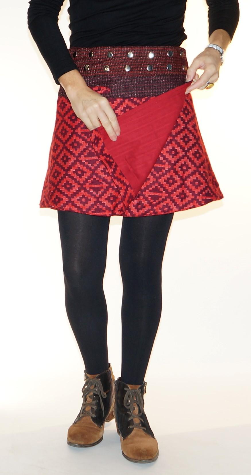 Mini jupe taille modulable Moshiki B