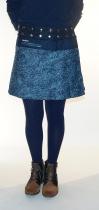 Mini jupe taille modulable Moshiki bleue