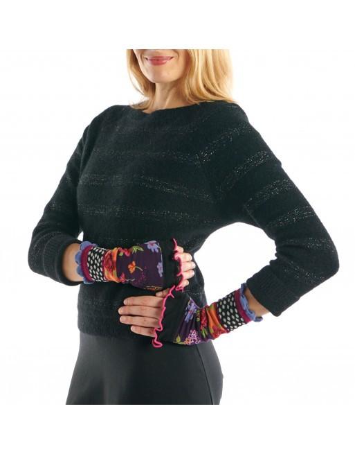 Mitaines multicolores Velvet Dub & Drino