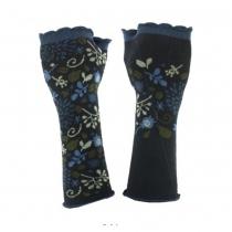 Mitaines originales noires et bleues coton Bio Lili Gambettes