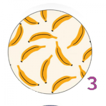 Motif YAYA FACTORY 25mm Banana Split 25