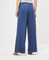 Pantalon femme Surkana bleu très fluide