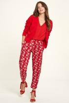 Pantalon fluide rouge Tranquillo Zwena