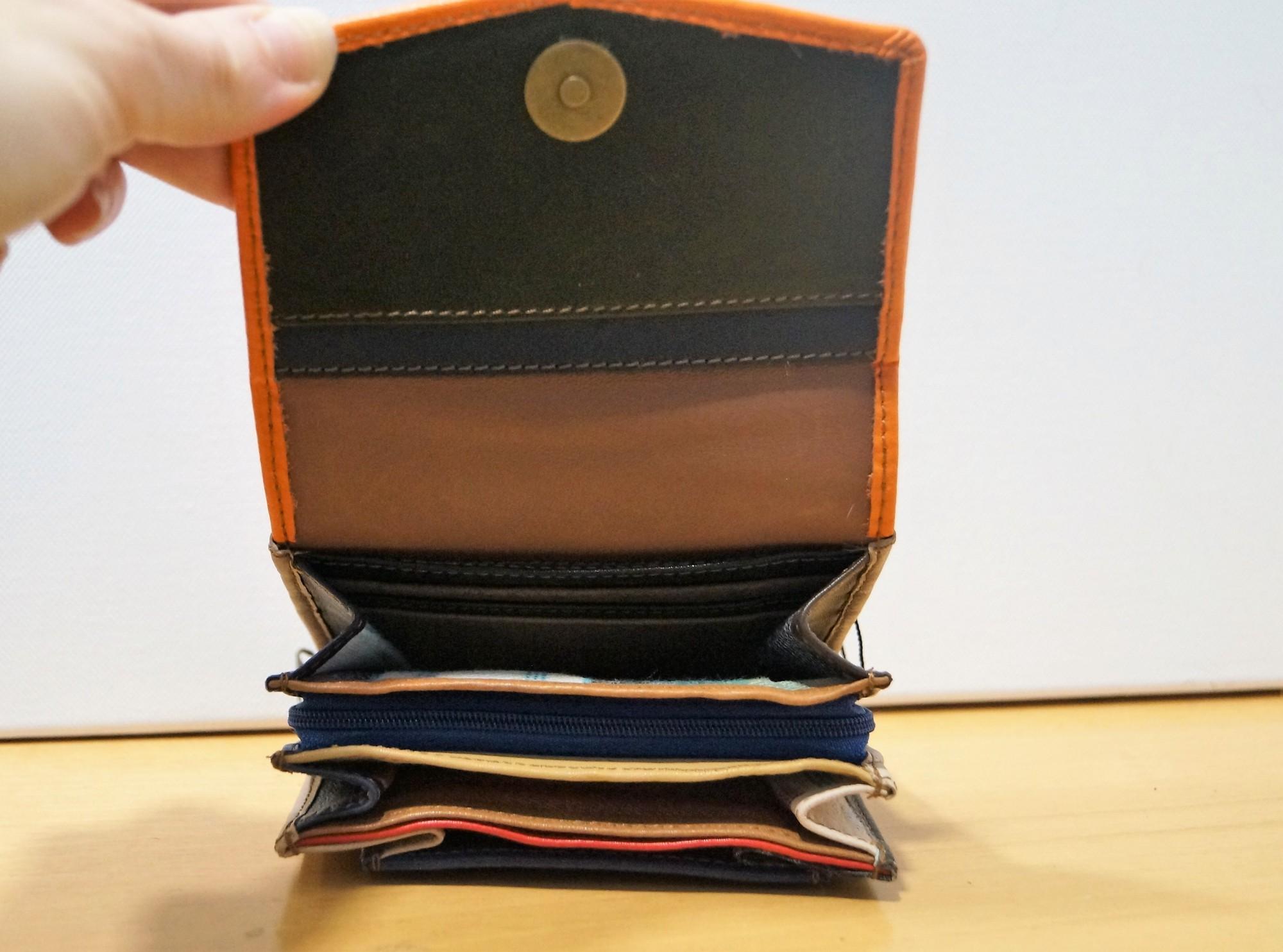 Petit porte monnaie Soruka en cuir recyclé