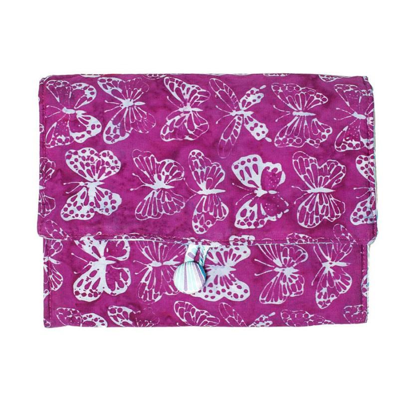 Pochette à dessin violette et papillons Bibop et Lula